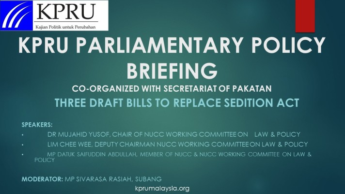 KPRU PARLIAMENTARY POLICY BRIEFING