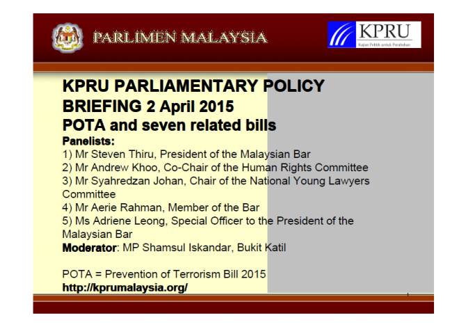 KPRU POTA Briefing 2 April 2015