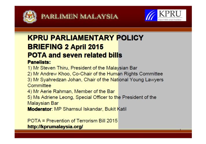 KPRU POTA Briefing 2 April 2015